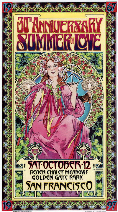 Summer of Love Poster by Bob Masse