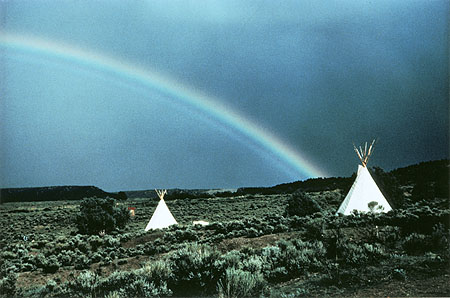Photo: New Buffalo Commune, Arroyo Hondo, New Mexico, 1967